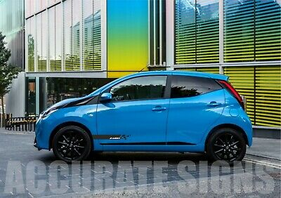 Side Stripes For Toyota Aygo (Pair) Stickers Decals Graphics Any Colour