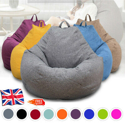Large Classic Bean Bag Cover - Indoor Outdoor Extra Large Garden Beanbag Seat UK