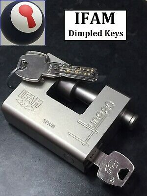 IFAM E40 ELS 75mm  SHACKLE. ALL BRASS KEYED TO DIFFER LOCK-OUT SAFETY PADLOCK