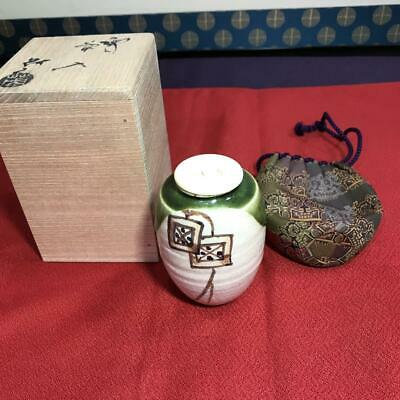 Tea Caddy Ceremony Chaire Sado Seto-yaki Japanese Traditional Crafts t634