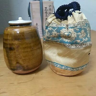 Tea Caddy Ceremony Chaire Sado Mino-yaki Japanese Traditional Crafts t624
