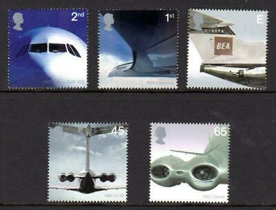 GB 2002  Commemorative Stamps~Airliners~Unmounted Mint Set~UK Seller