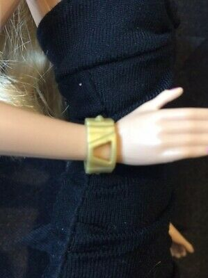 Genuine Barbie Accessories - Gold Colour Bracelet, New From Pack