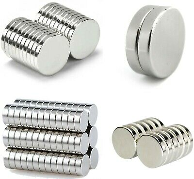 small large NEODYMIUM MAGNETIC DISCS ~ 3mm thick ~ STRONG Fridge Reborn Magnets