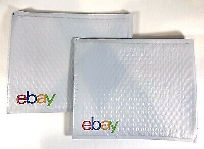 "20 Padded Envelopes eBay-Branded  Airjacket With Multi-Color Print 8.5"" x 11.25"""
