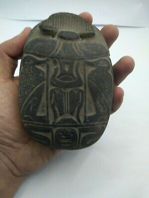 RARE ANCIENT EGYPTIAN ANTIQUE SCARAB Carved Stone 1391-1261 BC (4)
