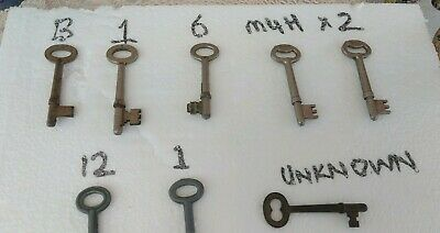 8 different Old Antique vintage Keys to choose from