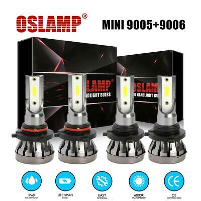 Mini 9005+9006 Combo LED Headlight 6000K Bulb Kit 3000W 450000LM High Low Beam