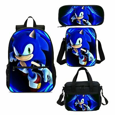 Sonic the Hedgehog Game Large Backpacks Thermal Lunch Box Sling Bag Pen Case Lot