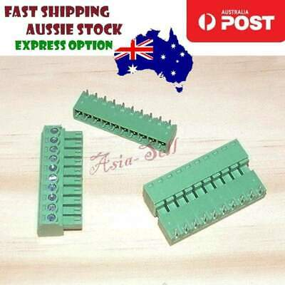 Screw Terminal Blocks 10-Pin PCB Mount Plug-In Right Angled 10 Pins - Asia Sell