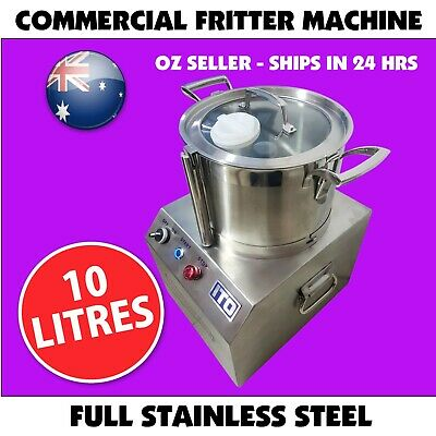 Commercial Food Processor Fritter Machine 1100W 10L Meat mincer Stainless Steel