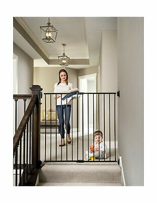 Regalo 2-in-1 Extra Tall Easy Swing Stairway and Hallway Walk Through Baby Ga...