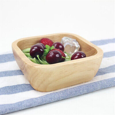Cereal Rice Bowl Wooden Wood Soup Bowls Camping Household Tool JJ
