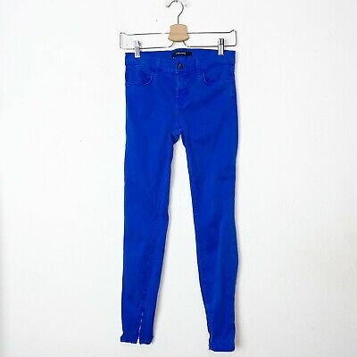 J Brand Womens Electric Blue Crop Ankle Skinny Jeans Size 26