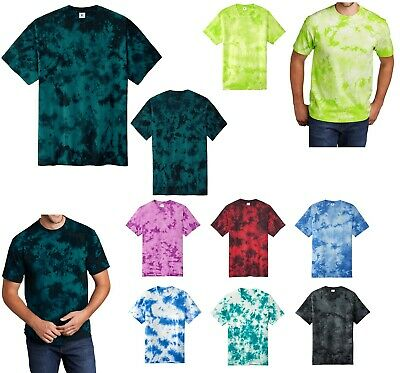 NWT DANCE TIE DYE SPANDEX T SHIRT DANCE BOYS MENS MOSS CHILD ADULT SZS V NECK