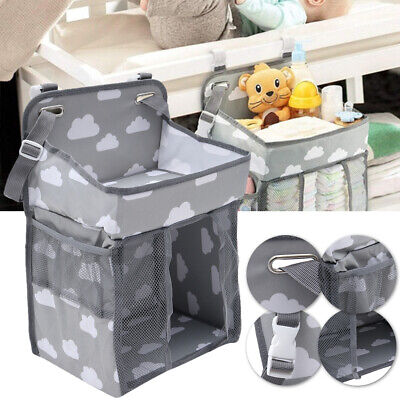 Baby Crib Cot Bed Bedside Hanging Storage Bag Diaper Nappy Organiser Nursery NEW