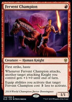 *Magic MtG: Fervent Champion (Rare) - Throne of Eldraine *TOP*