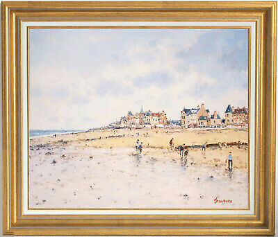 Jean-Pierre Dubord~Well-Listed Artist~Beach In Normandy~Original Oil Painting
