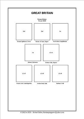 2019 SUPPLEMENT -  Print Your Own Stamp Album - GREAT BRITAIN ONLY