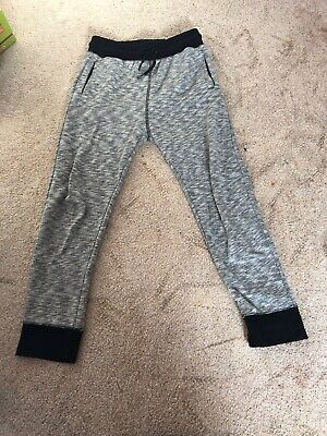 H&M 9-10 Height 140cm Joggers Basic Grey With Black Trim Loads Of Wear Left