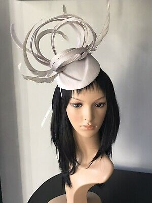 PETER BETTLEY SILVER GREY WEDDING FASCINATOR Mother Of The Bride Hat OCCASION