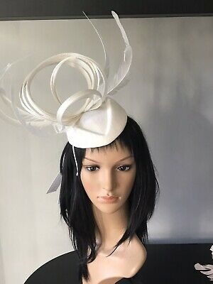PETER BETTLEY IVORY WEDDING FASCINATOR Mother Of The Bride Hat OCCASION
