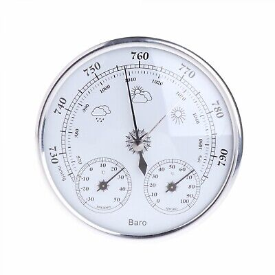 Weather Station Barometer Thermometer 3 in 1 Household Hygrometer Wall Hang