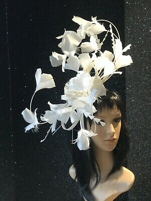 Peter Bettley Ivory Feather Headpiece Fascinator Wedding Hat Occasion Cocktail