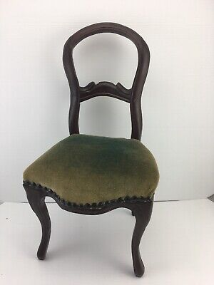 Vintage *Antique Style *Victorian Rosewood Balloon Back Doll / Teddy Bear Chair.