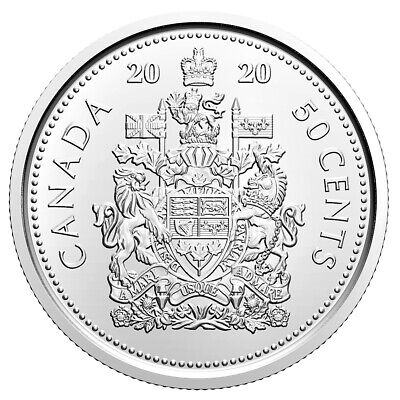 2020 Canada 50 Cents Proof-Like Half-Dollar Coin