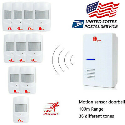 Home Security Wireless Driveway Alarm Doorbell Garage PIR Motion Sensor Detector