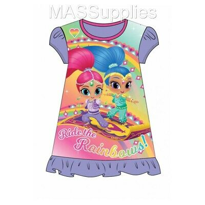 Girls Official Shimmer & Shine Nightie Nighty Nightdress Pyjamas Age 3-4 Years