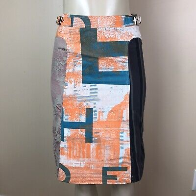 CUSTO BARCELONA Women/'s Army /& Pink Owl Tiered Peasant Skirt 593564 $115