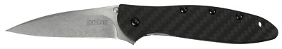 Kershaw Leek Liner Lock Knife Carbon Fiber CPM-154 Stainless 1660CF Pocket Kniv
