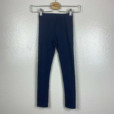 Hanna Andersson Girls Leggings in Navy Blue Size 120 (6x-7)