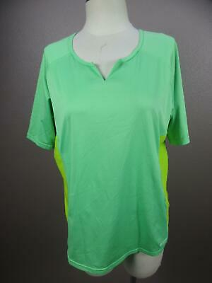 Nike Sphere Dry Size L Womens Green Short Sleeve Athletic Top Jersey Shirt 686