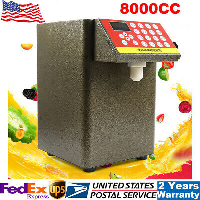 8000CC Fructose Quantitative Machine Sugar Syrup Dispenser Milk Tea Equipment US