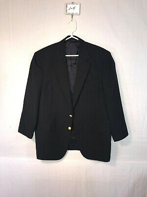 Men's Loro Piana Brooks Brothers 100% Wool Navy Blue Blazer. SZ: 43R