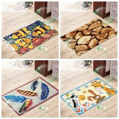 Latch Hook Rug Making kits for Adults Beginner Embroidery Cushion Cover 60X40CM