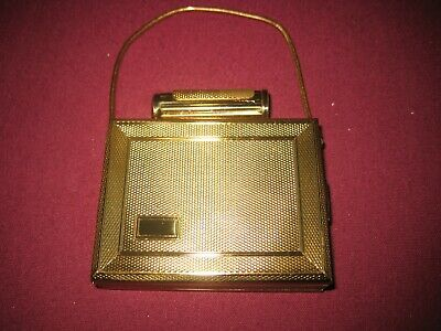 Vintage KGU Double Compartment Compact with Carry Strap.