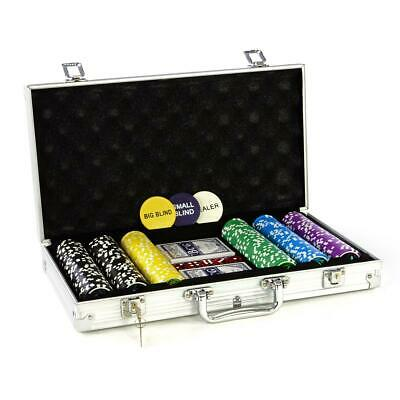 Pokerkoffer Pokerset 1000 Chips Laser Pokerchips Poker Set Jetons Alu Koffer zil