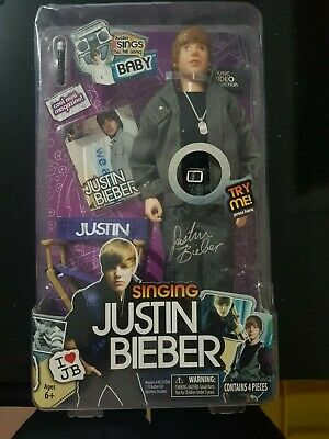 "Singing  Justin Bieber Doll ""Baby"" 2010~Collectable~Rock Music~Concert~Rare~Pop"
