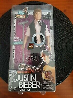 "Singing  Justin Bieber Doll "" Boyfriend"" 2012~Rock Music~Collectable~Concert~Pop"