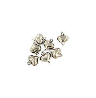 20 Leaf Silver Tone Stainless Steel Charms 2 Sided MT489