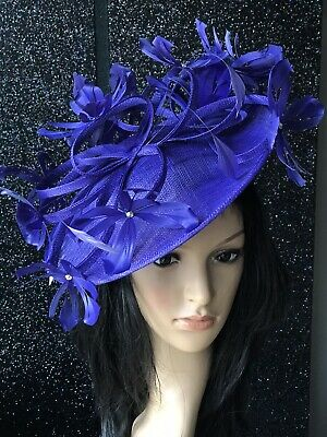PETER BETTLEY PURPLE WEDDING  DISC FASCINATOR Mother Of The Bride Hat OCCASION