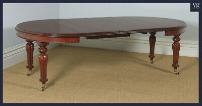 "Antique English Victorian Mahogany Extending Eight Seat Dining Table 7ft 8"" Long"