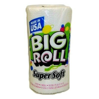 New 807851 S.S Big Roll Paper Towel 1Pk 55Sq Ft 2-P (24-Pack) Disposable Cheap