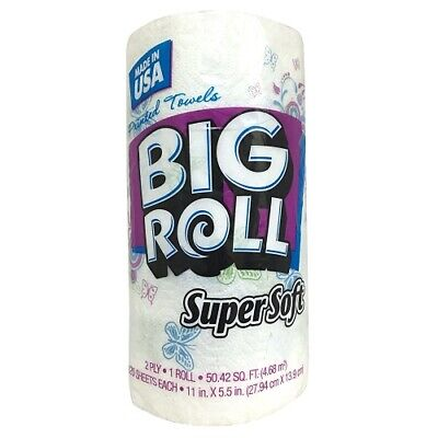 New 814011 S.S Big Roll Paper Towels 1Pk Printed (24-Pack) Disposable Cheap