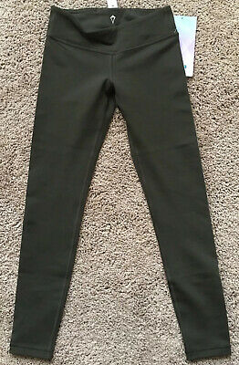 Ivivva By Lululemon Size 8 Rhythmic Tight Green DKOV Super Cute Pant Athletic