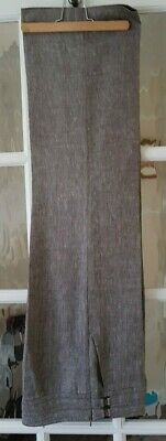 Ladies Marks & Spencer/M&S Brown Mix Linen Trousers size 8 short leg
